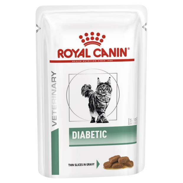 royal canin veterinary diabetic wet cat food pouches  48 x 85g | Royal Canin Veterinary Diet cat food |...