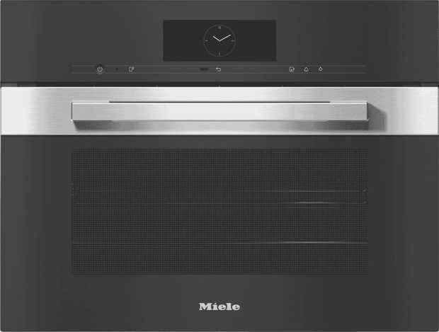 Prepare roast meals, steam fish and vegetables, or gently defrost frozen food with the Miele DGC 7840...