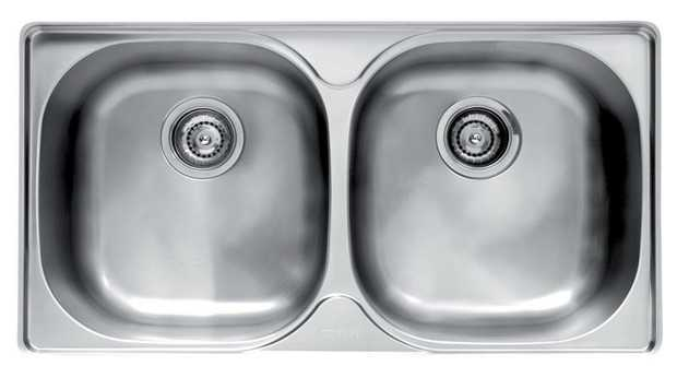 360 x 380 x 180mm (x2) bowl size 800mm cabinet base Stainless steel Can be installed undermount or...