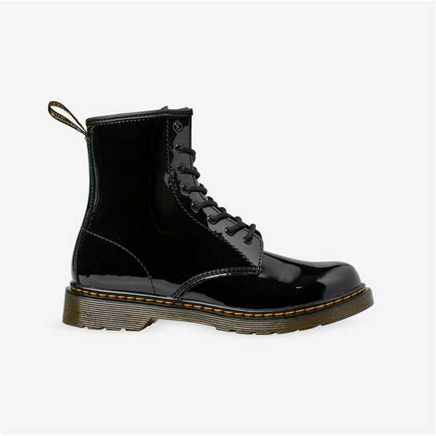 A mini, youth-sized 1460, this patent leather boot features an ankle zip for little fingers (and...