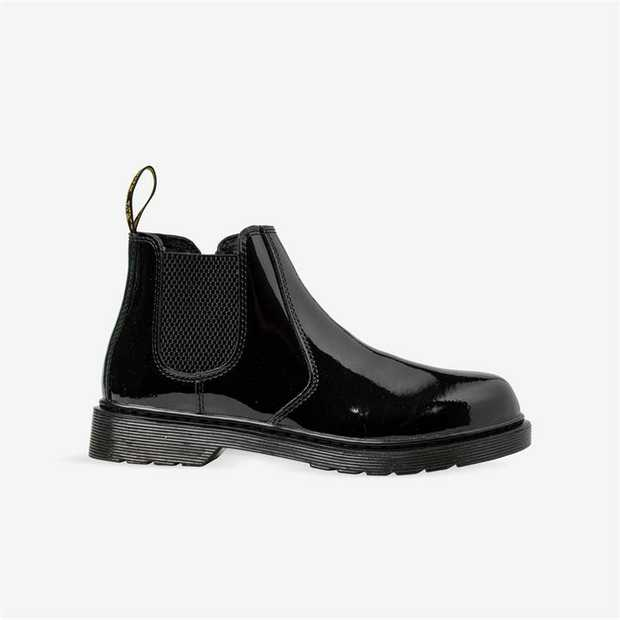 This mini Chelsea boot was made for the most rebellious of all people: youth. In shiny patent leather...