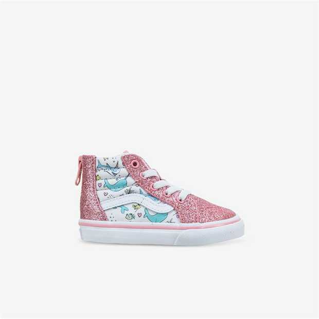 The Toddler Shark Party Sk8-Hi Zip is a fun take on a classic you know and love. Combining the...