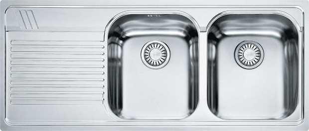 340 x 400 x 190mm (x2) bowl size 800mm cabinet base 1x drainer basket (DB 448) 1x chopping board &...
