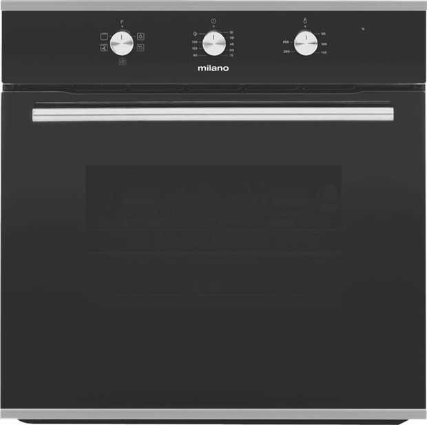 * 65 Litre capacity* 5 Oven functions* Triple glazed cool touch door* Knob control