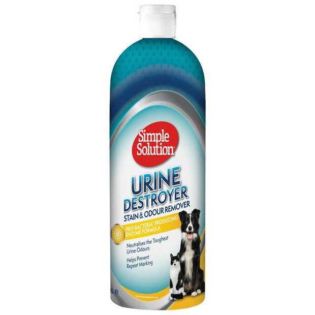 Simple Solution Urine Destroyer & Odour Neutraliser for Cats & Dogs 1 Litre