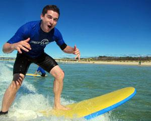 If you would like to learn to surf then this Two Hour Surf Lesson with Stand Up Guarantee on the Gold...
