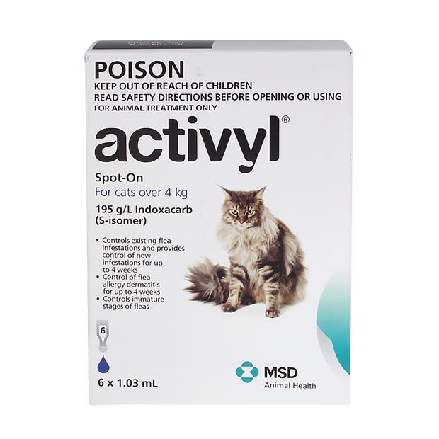 activyl large cat  6 pack   Activyl cat Flea&Tick; Control   pet supplies  Product Information:...