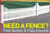 NEED A FENCE?   Free Quotes & Fully Insured   Specialising in -   Pool Fencing, Timber, Colorbond...