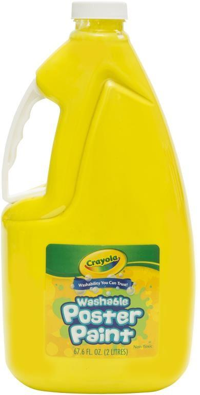 Crayola Washable Poster Paint 2 Litre - Yellow