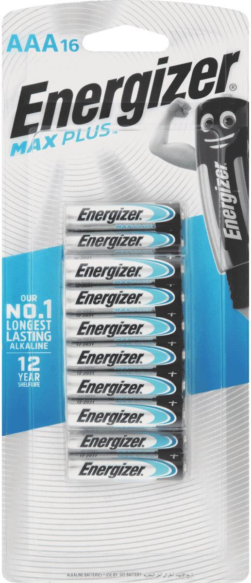 MaxPlus the world's longest lasting alkaline battery, 12 year shelf life