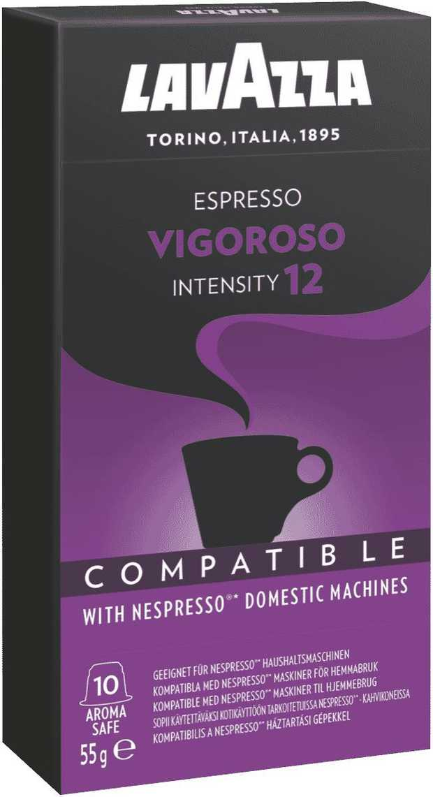 A blend of great character and natural strength for an intense and creamy coffee with a persistent...