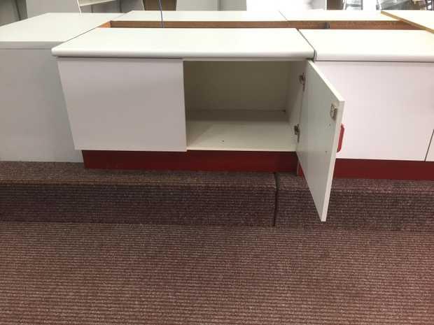 8x Shopfitting Cupboards, 2 door lockable approximately 1000x 700 x 600 Good condition $250...