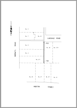 PUBLIC NOTICE   PROPOSED SALE OF LAND FROM DRAINAGE RESERVE ADJOINING 20 LAXDALE ROAD AND 1, 3...
