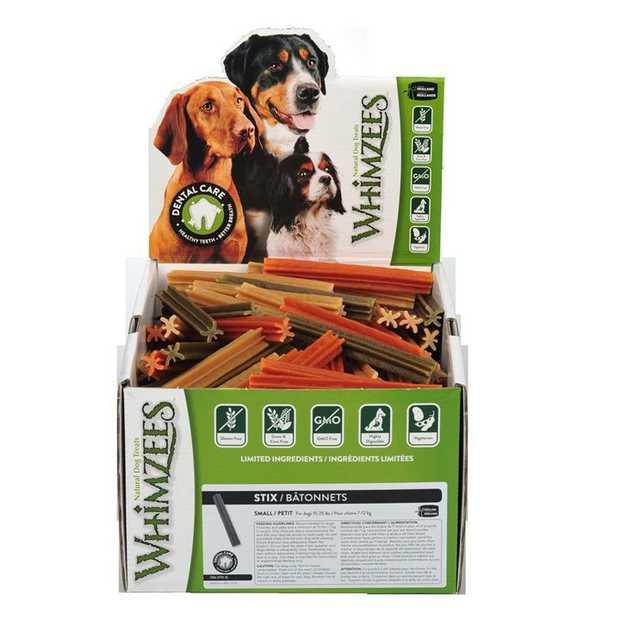 Whimzees Grain Free Vegetarian Dental Treats for Dogs - Small Veggie Stix  Box of 150 Stix
