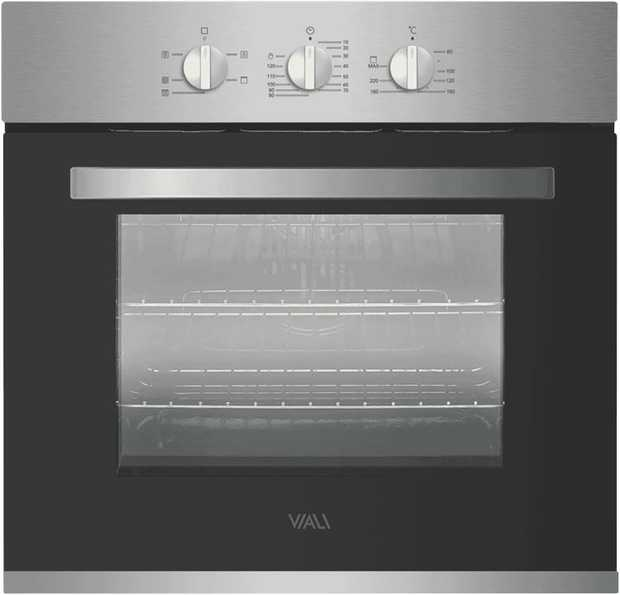 This Viali oven has a stainless steel finish. You can fit multiple baking sheets at the same time with...