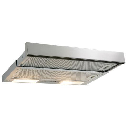 Three speeds up to 400m3/hr Easy grab slim front sliding rail Halogen lighting Dishwasher proof...