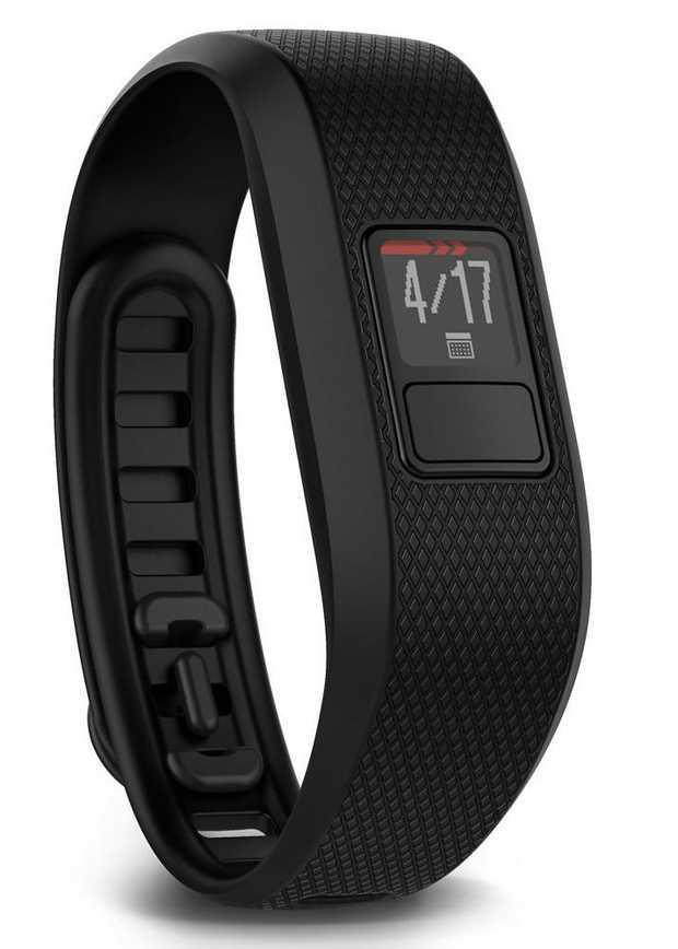 Shows steps, calories, distance & intensity minutes Auto activity detection Move bar and audible alert...