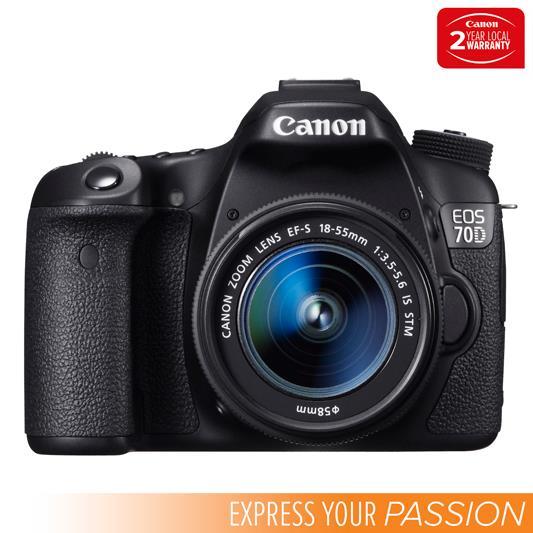 EOS 70D Body + EF-S 18-55mm IS STM Lens 20.2 Megapixel CMOS Sensor Dual Pixel CMOS AF Digic 5+ Image...