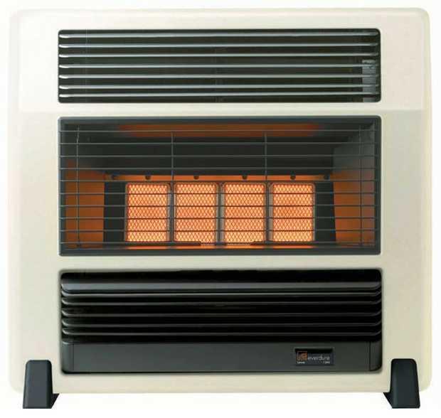 15MJ Gas Input 2 Heat Settings Flame Failure Shut Off Oxygen Depletion Sensor Tilt Safety Switch...