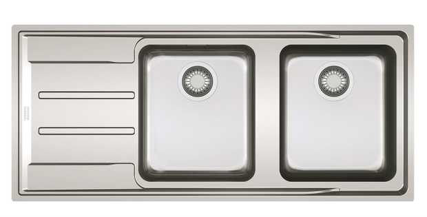 Stainless Steel Flushmount Installation X-Brushed/Satin Surface Finish Waste Kit Included Remote Waste...