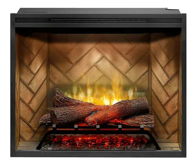 Revillusion™ Flame technology Mirage Flame panel ThruView Full-depth design 2kW heat output Mood...