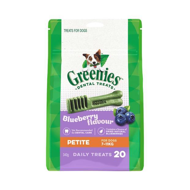 greenies blueberry flavour petite dog dental treats 20 pieces  340g | Greenies dog treat&&litter; | pet...