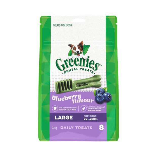 greenies blueberry flavour large dog dental treats 8 pieces  340g | Greenies dog treat&&litter; | pet...
