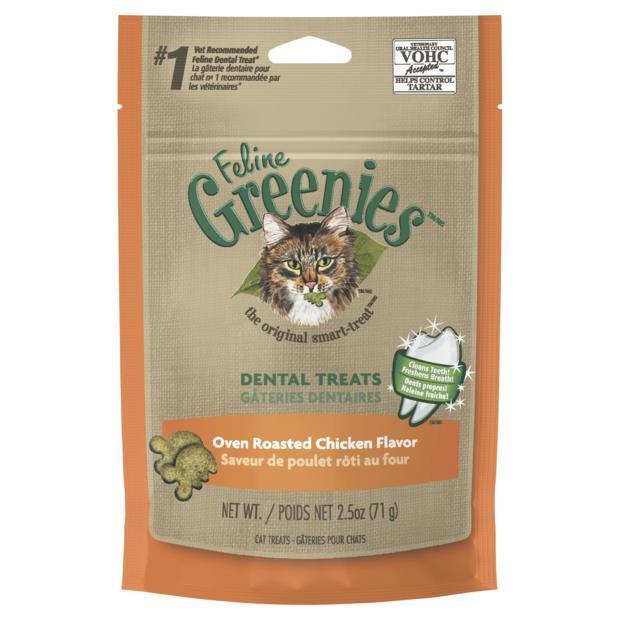 greenies cat dental treats oven roasted chicken flavour  71g | Greenies cat treat&&litter; | pet...