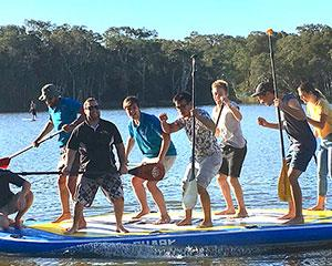 This 60 minute giant stand up paddle board experience is sure to give your group laughter, thrills and...