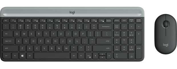 2.4 GHz wireless Slim profile & minimalist design Compact keyboard Includes number pad & 12 FN...