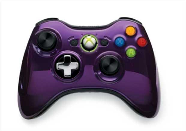Xbox 360 Wireless Controller (Purple Chrome)  Xbox 360 Wireless Controller  Features  2.4GHz wireless...