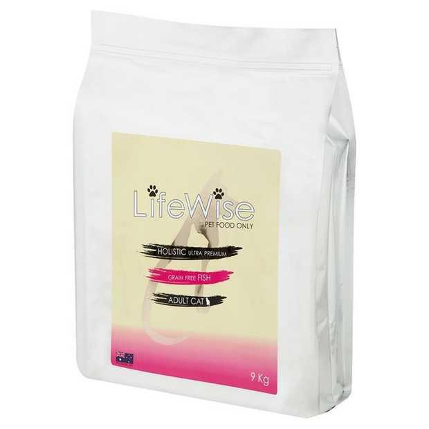 Lifewise Australia Dry Cat Food Grain Free Ocean Fish with Lamb & Vegetables 9kg