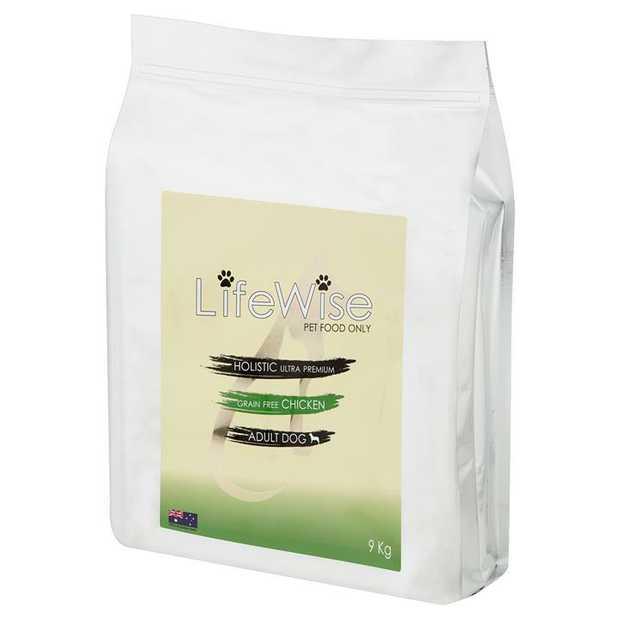 Lifewise Australia Dry Dog Food Grain Free Chicken with Turkey & Vegetables 9kg