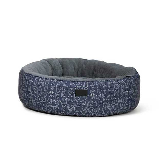 Naptime can happen in luxurious comfort and style eith the La Doggie Vita High Sided Cushion Indigo Dog...