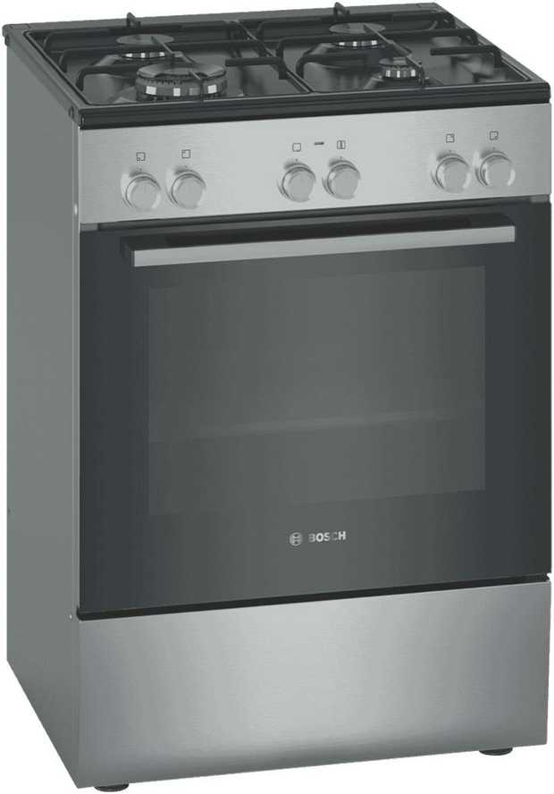 This Bosch upright cooker's 4 burners let you fire up several pots and pans at once. It has 8 cooking...