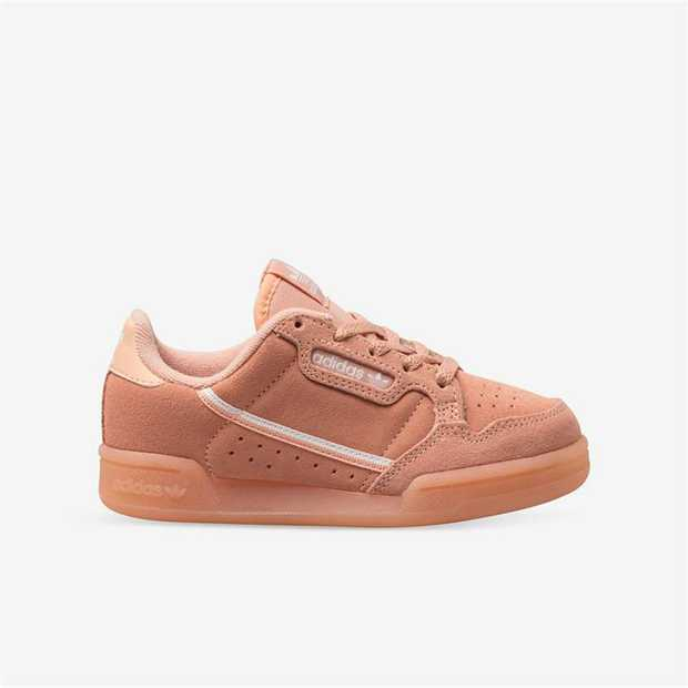 It's all about the shades and suede. The kids' version of the adidas Continental 80 is a faithful...