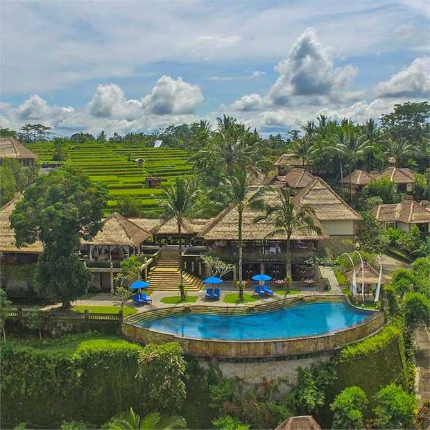 Embrace complete seclusion and intimacy among the breathtaking rice paddies and jungles of Ubud, Bali's...