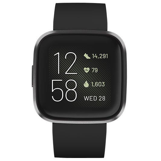 Fitbit Versa 2 SmartWatch - FB507BKBK - Black/Carbon