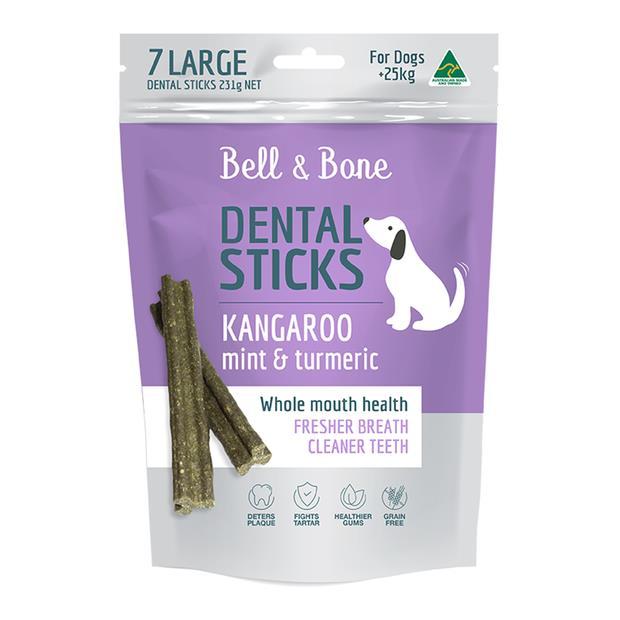 bell and bone kangaroo mint turmeric dental dog treats  large | Bell and Bone dog treat&&litter; | pet...