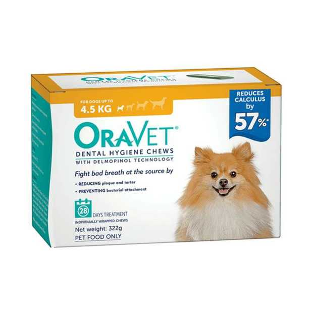 It has never been easier to keep your dog's breath fresh than with Oravet Dog Dental Hygiene Chews.