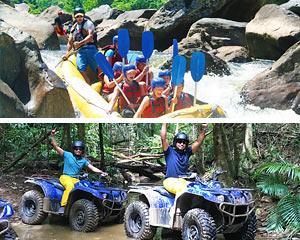 Enjoy an exhilarating 1.5hrs (approx.) ATV/Quad Bike adventure through lush tropical rainforest &...