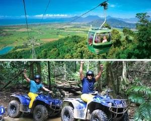 Enjoy spectacular unspoiled mountain top views with a ride on the Skyrail then an exhilarating 1.5hrs...