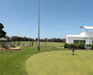 One on one golf lesson for an hour with PGA pro for $130 at Albert Park Driving Range.