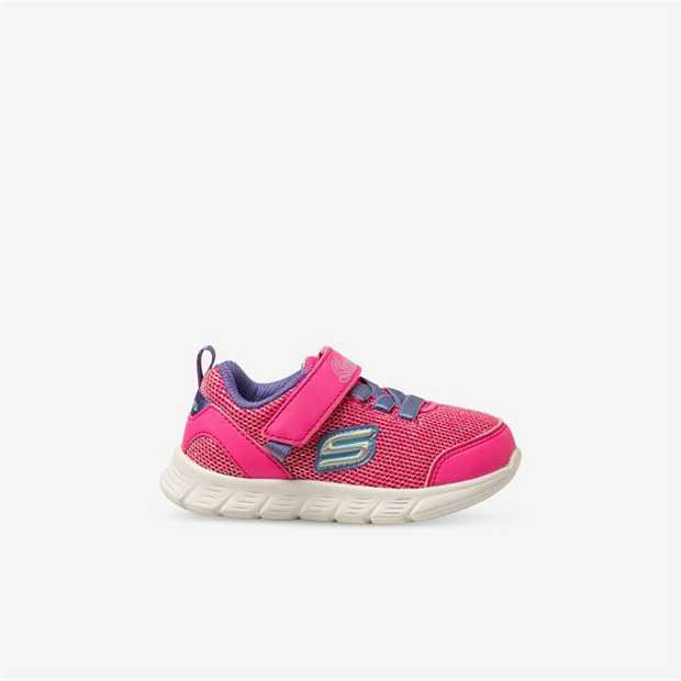 Fun sporty style and comfort comes with added sparkle in the SKECHERS Comfy Flex - Moving On shoe. Soft...