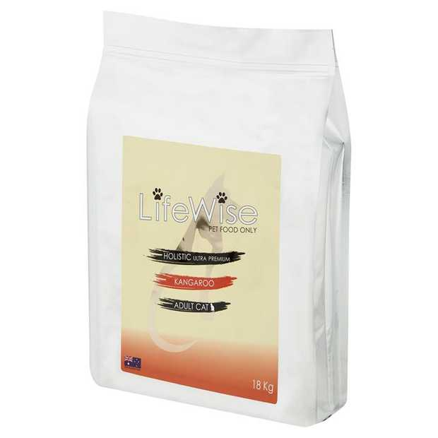 Lifewise Australia Dry Cat Food Kangaroo with Lamb & Rice 18kg