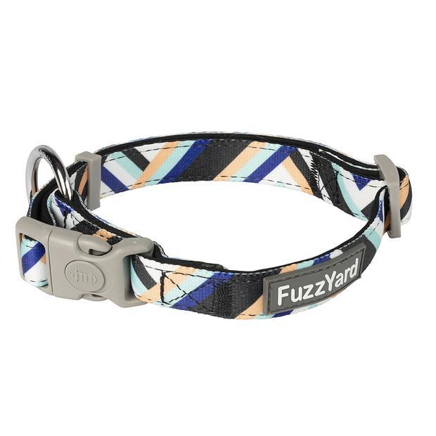 fuzzyard multi stripe sonic dog collar  medium | FuzzYard dog | pet supplies| Product Information:...