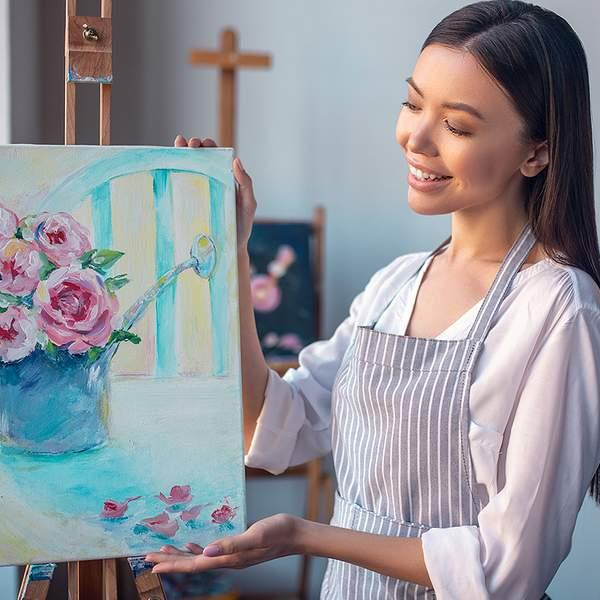 Unleash your creativity with an online two-hour painting class from Life With Paint, led by a...