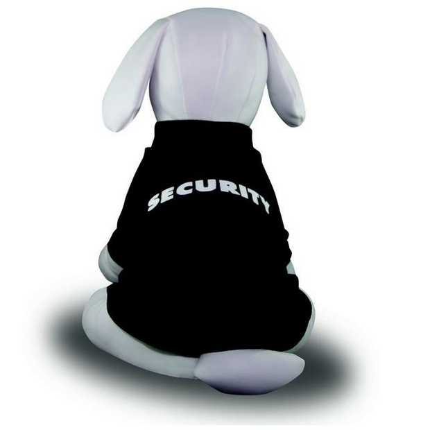 Security T-Shirt by Dog Bless You-Black-Size 3