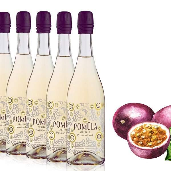 If you're looking for the perfect aperitif, look no further than the Pomula Passionfruit Spritzer!