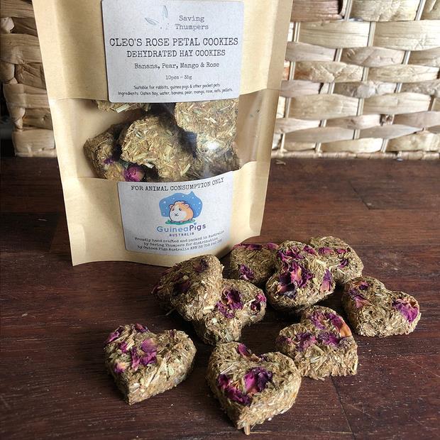 guinea pigs australia cleos rose petal cookies  each | Guinea Pigs Australia treat&&litter; | pet...